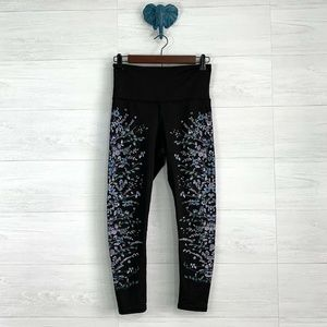 Evolution and Creation Floral Painted Leggings